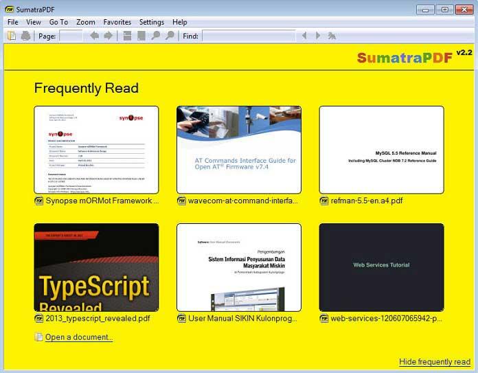 imprimante PDF Sumatra