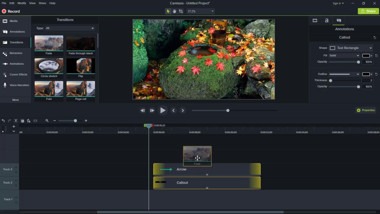 logiciel de montage vidéo Camtasia