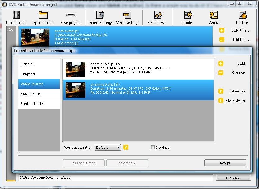 graver un fichier MP4 sur un DVD avec DVD Flick