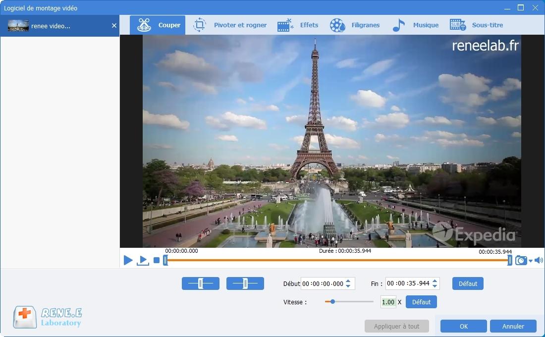 couper une vidéo MP4 avec Renee Video Editor Pro