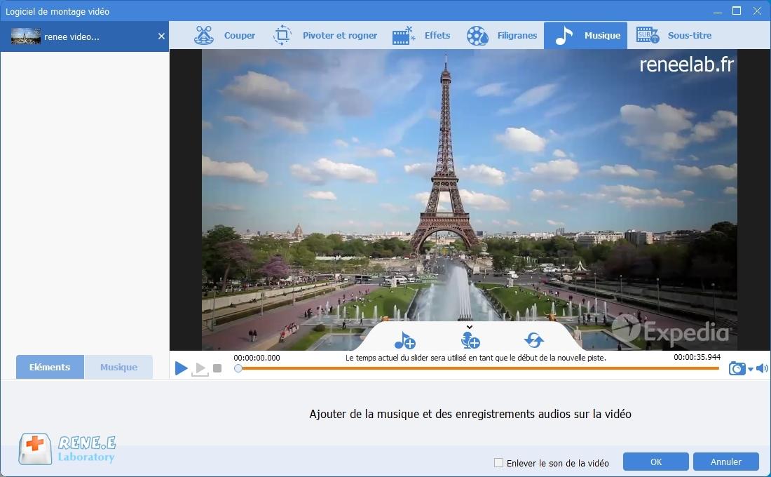 ajouter la musique dans la vidéo avec Renee Video Editor Pro