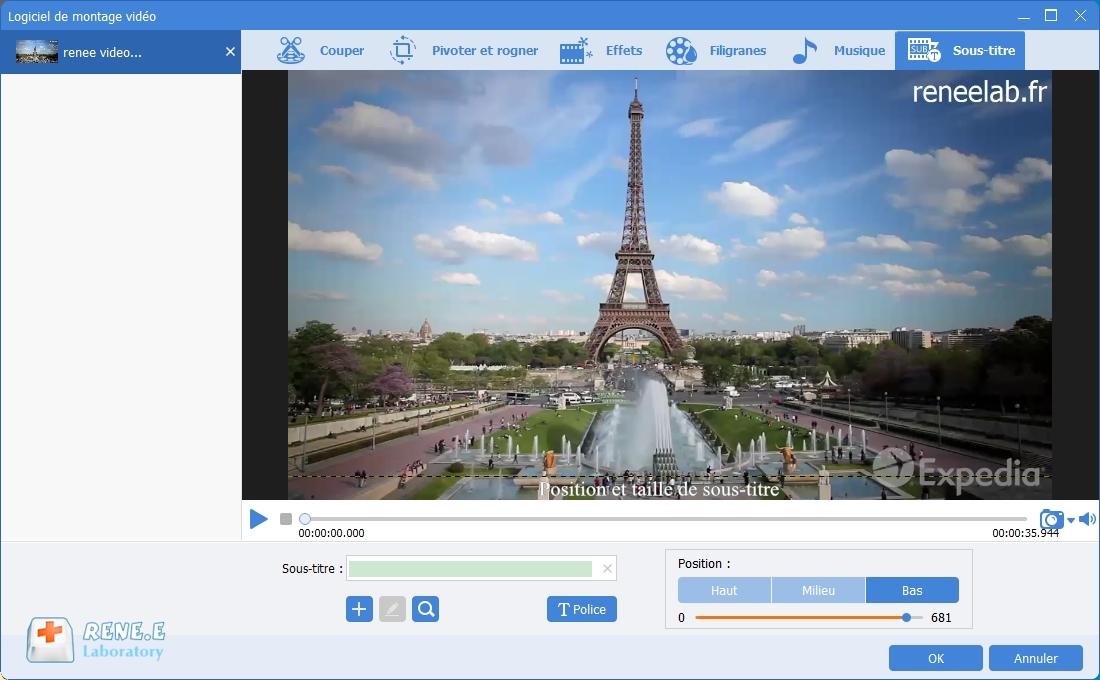 ajouter le sous-titre dans la vidéo avec Renee Video Editor Pro