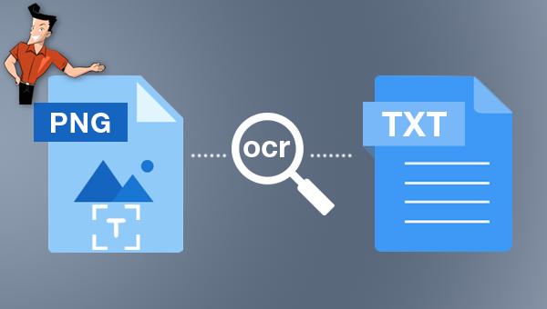 utiliser un OCR text scanner pour extraire le texte sur une image PNG