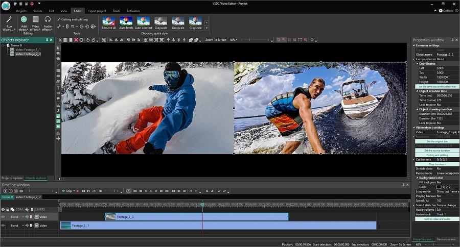 logiciel de montage vidéo VSDC Free Video Editor
