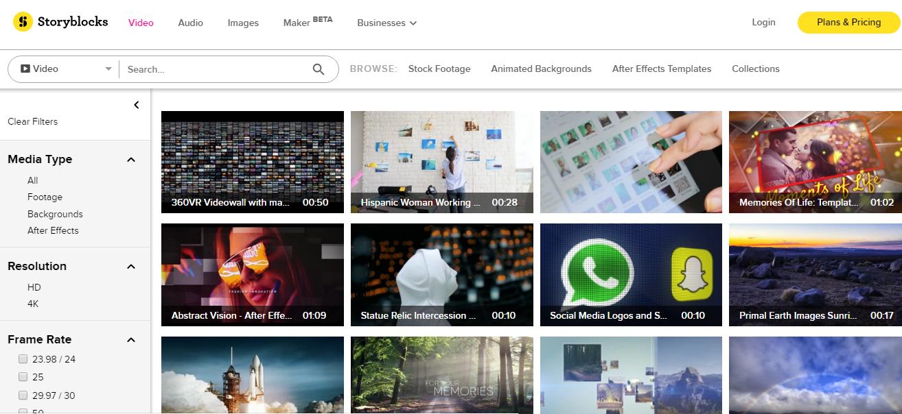 site de téléchargement d'intro video Storyblocks