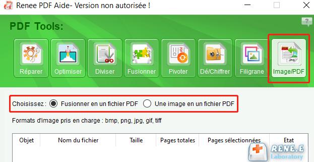 convertir l'image en PDF avec Renee PDF Aide