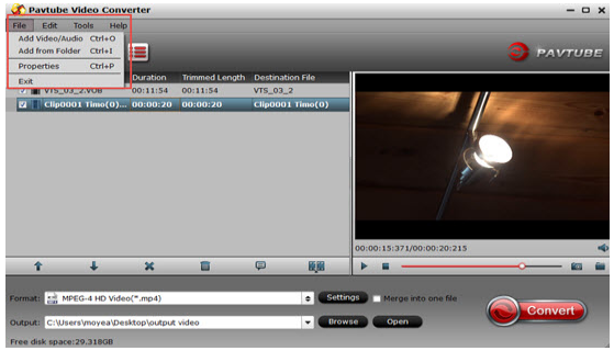 convertir une vidéo Camtasia en MP4 avec Pavtube Video Converter