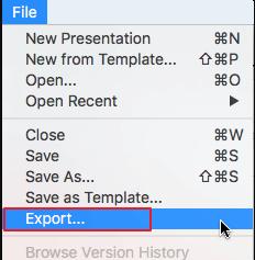 exporter le fichier PowerPoint sur Mac