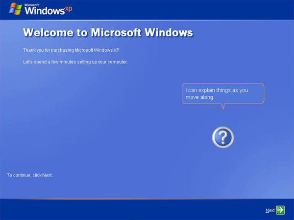 terminer l'installation de Windows XP