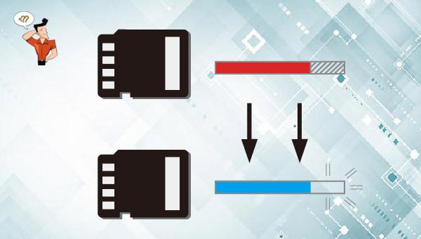 restaurer la capacité sur la carte SD