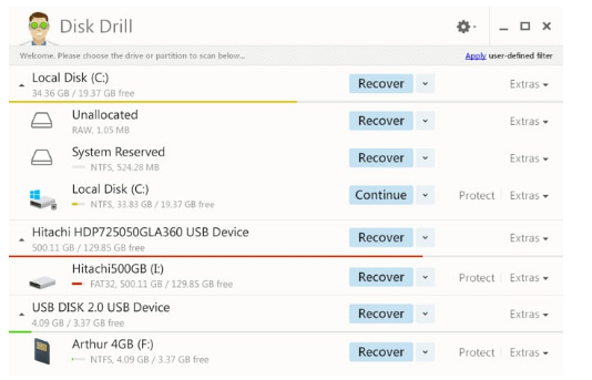 récupérer les données avec Disk Drill